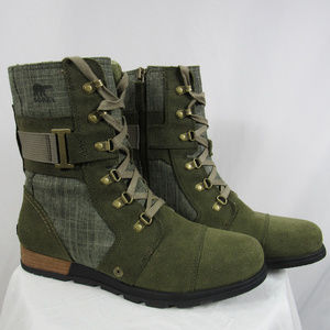 NEW Sorel 10.5  Major Carly Lace up Military Boot